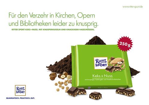 Plakat RITTER SPORT Keks + Nuss - Querformat