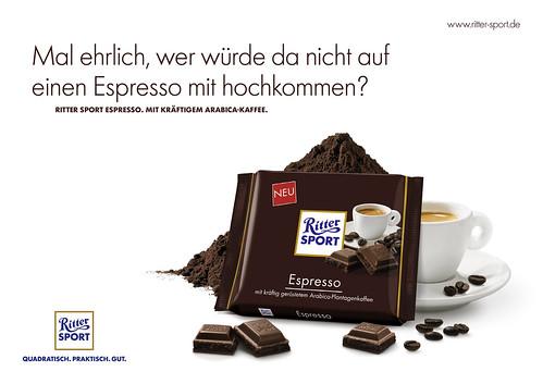 Plakat RITTER SPORT Espresso - Querformat