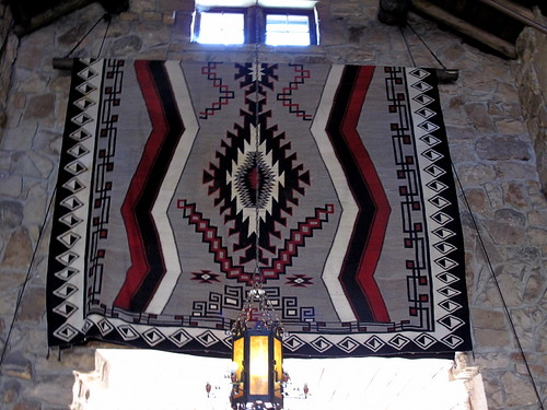 The worlds largest Navajo Rug - hanging in the lobby at the Lodge
