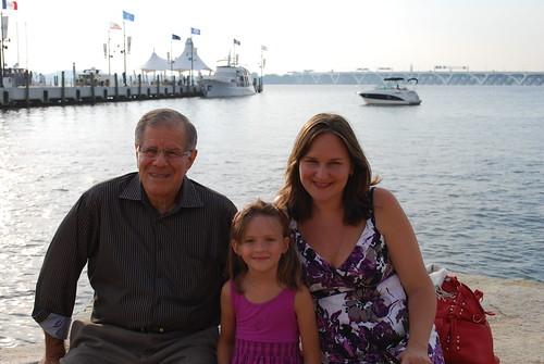 Dad, Claudia, Me