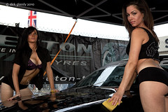 the works (dirk glassly) Tags: girls people woman cute girl beauty female canon pose pretty skin gorgeous femme models babe carwash silverstone chic tasha carshow 2010 trax crystall angelgirl chercherlafemme