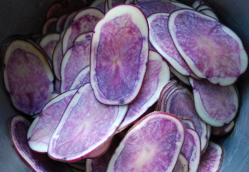 Sliced All Blue Potatoes