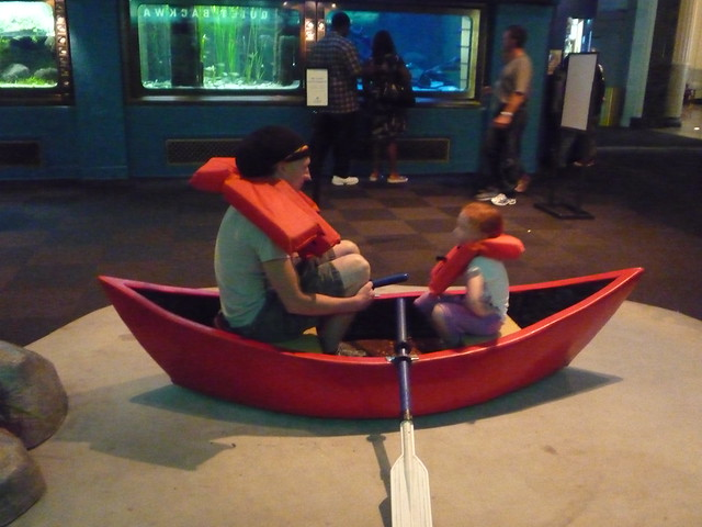 Eric and Addie sailing the Shedd