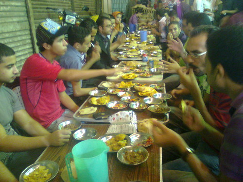 سحور حركة 6 ابريل فى الحسين - رمضان 2010