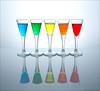 Rainbow Glasses - Explore [FrontPage] (pascalbovet.com) Tags: lighting blue red stilllife orange reflection green water glass yellow rainbow highkey tabletop strobist