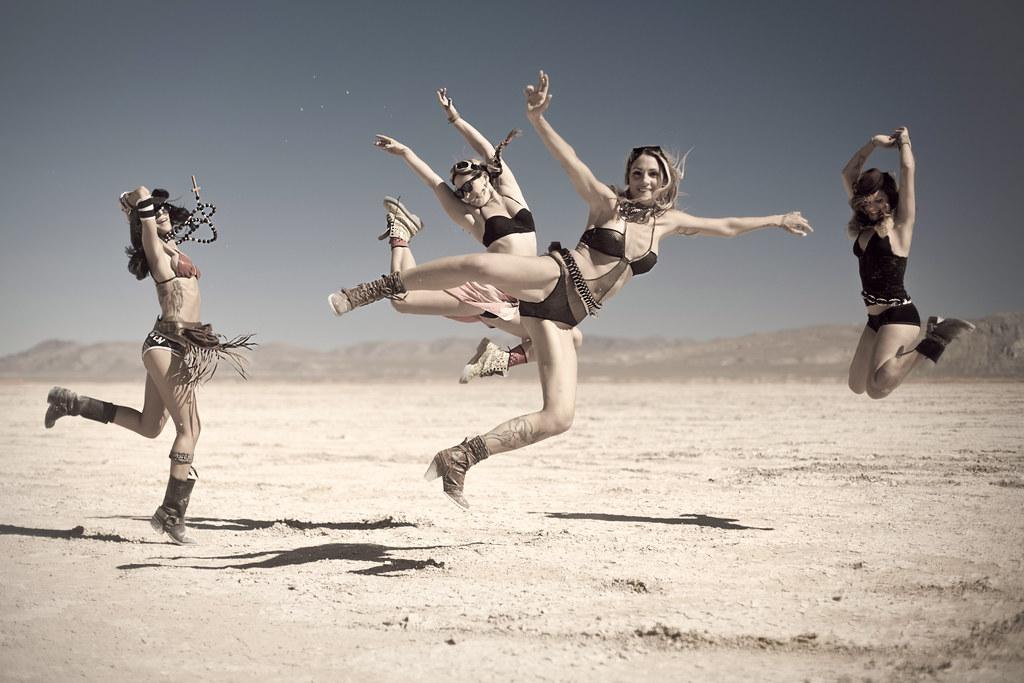 leaping ladies