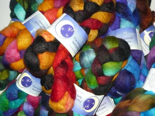 CUSTOM scarf from my Mosaic Moon merino fibre.