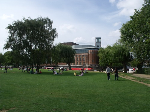 Royal Shakespeare Theatre from The Rec, Stratford-upon-Avon