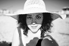veil (jasfitz | letsfrolictogether.com) Tags: california selfportrait me hat hair straw curls roadtrip 50mm14 explore curly pismobeach frontpage californiacoast selfie brim 5dmarkii floppystrawhat veilofdiamondlight