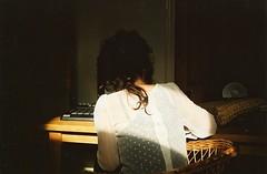 wicker spots (Adele M. Reed) Tags: light sun film home 35mm hair back kodak spots 200 pointandshoot curl analogue wicker loz sheer nikonl35af2