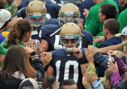 Michigan beats Notre Dame, 28-24, at Notre Dame Stadium, 9.11.10