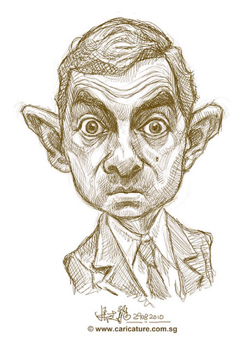 digital sketch of Mr Bean - 1 small