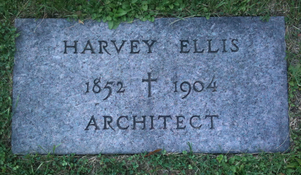 Harvey Ellis Grave, St. Agnes Cemetery, Syracuse, New York.  The unmarked grave was marked by the Arts and Crafts Society of Central New York in 1997.