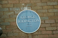 Photo of George Boddington blue plaque