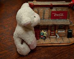 Bahbahra Kong (Singing With Light) Tags: animal stuffed jerseycity sheep pentax small nj tiny huge cocacola kiwi fridgemagnet dailyshoot k200d bahbahra iknowshesnotreal bahbahradailyshootk200dnjanimalfridgemagnethugejerseycitykiwipentaxsheepsmallstuffedtiny
