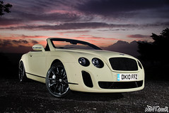 2010 - 2011 Bentley Continental Supersports Convertible In Light Yellow (NWVT.co.uk) Tags: road uk light sunset wild black beauty car yellow painting out nikon long exposure photographer with dusk continental convertible automotive hampshire most exotic chrome 200 plus british ever powerful creating mph supercar sb bentley 900 exotica based 2010 citric the in supersports 2011 strobist worldcars nwvt
