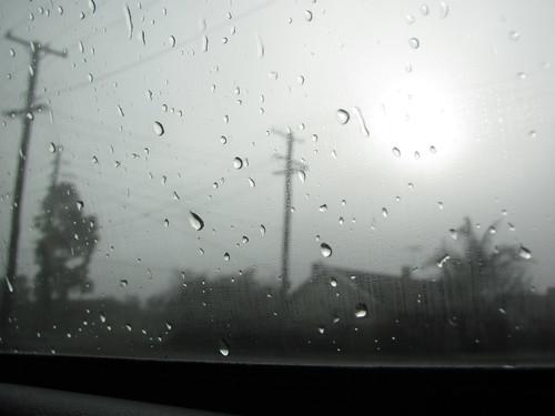 Rain from inside the car
