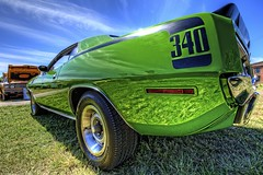 1971 340 'Cuda - All Original! (Carolinadoug) Tags: nc nikon plymouth northcarolina mopar cuda hdr highdynamicrange sixpack topaz photomatix 3406 d700 worldcars nctransportationmuseum northcarolinatransportationmuseum topazadjust