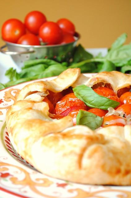 Tomato, Basil, Mozzarella Rustic Tart