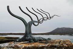 Sculpture, Loch Euphort (cazphoto.co.uk) Tags: sculpture holiday art landscape scotland rocks lichen loch northuist locheuphort