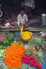 Au marché aux fleurs de Calcutta (hubertguyon) Tags: fleurs aux calcutta inde bengaleoccidental earthasia occidentalcalcuttaindemarchž fleursmarché marchindiawestbengalflowermarketmarchéfleursbengale