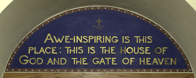 "Saint Joseph Roman Catholic Church, in Josephville, Missouri, USA - painting in narthex ""House of God"""