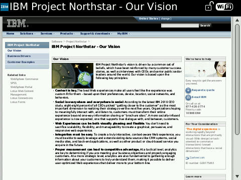 Northstar vision on BlackBerry Bold 9700