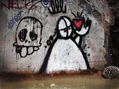 Love and Death (skipmoore) Tags: graffiti bunker headlands marincounty ggnra