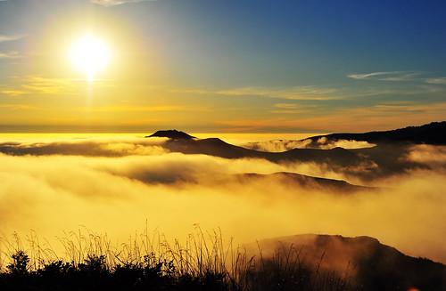 無料写真素材, 自然風景, 山, 霧・霞, 朝焼け・夕焼け, 太陽, 風景  アメリカ合衆国