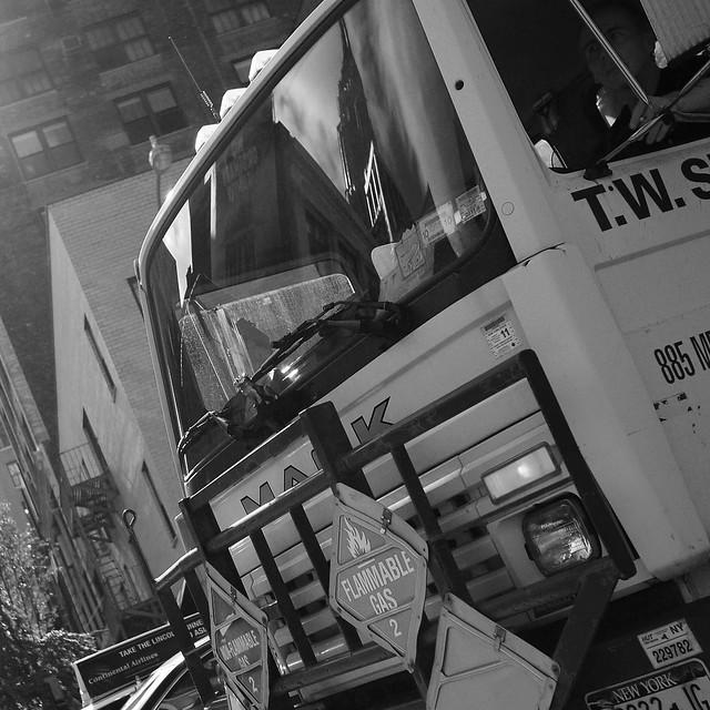 Subtle Empire State Building Inside a Mack Truck #walkingtoworktoday