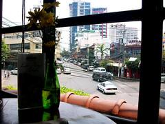 Cafe Adriatico, Malate Manila (Little Muttonchops) Tags: flower restaurant manila malate streetview greenvase cafeadriatico