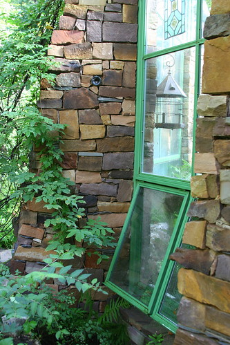 hobbit house greenhouse windows