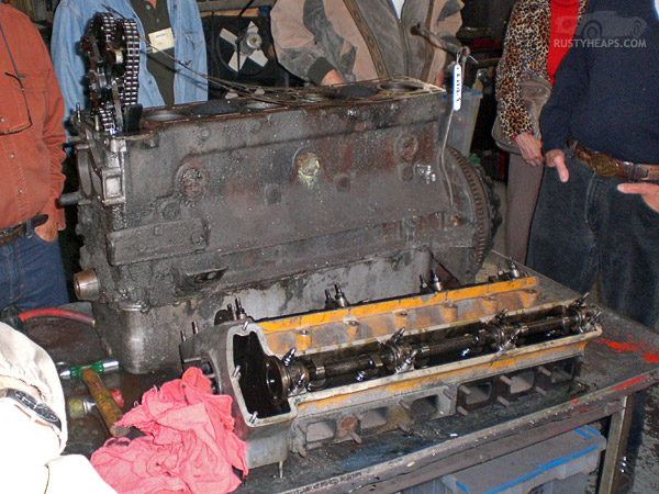 XK Engine Teardown: Head Off