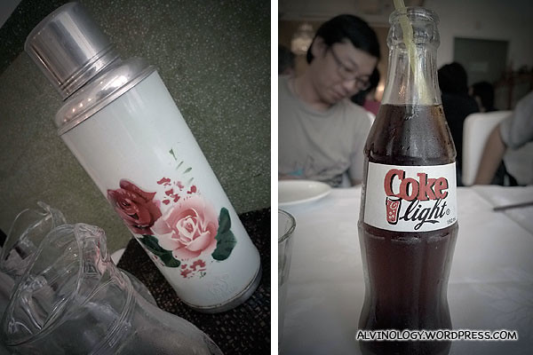 To keep to the retro theme, water was served via a tin flash and soft drinks came in glass bottles
