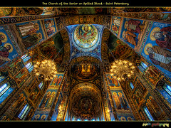 (Interior of the Church of the Savior on Spilled Blood) (foje64) Tags: church canon gold golden blood russia mosaic dome romantic saintpetersburg baroque anarchist orthodox hdr nationalism assassination neoclassic photoshopelements tsar alexanderii russianorthodox     alexanderiii photomatix  efs1022mmf3545usm    griboedovcanal  churchofthesavioronspilledblood canoneos500d romanticnationalism  ii iii mygearandmepremium mygearandmebronze mygearandmesilver mygearandmegold mygearandmeplatinum mygearandmediamond mygearandmeplatinium