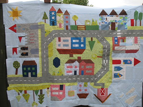 town quilt top