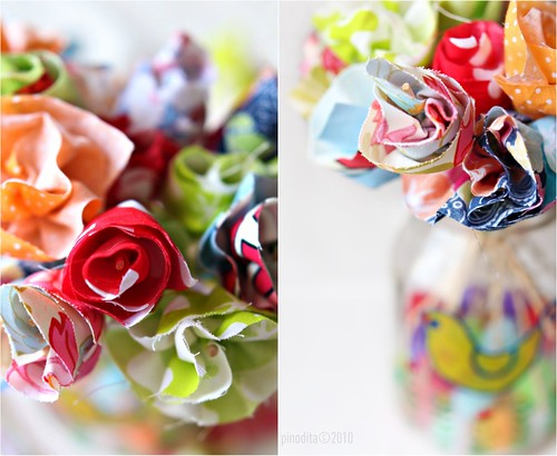 (Our Artful Life) Fabric Scraps Flower