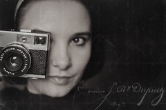 (~Liliana) Tags: portrait bw selfportrait me self vintage retro agfa textured optima500