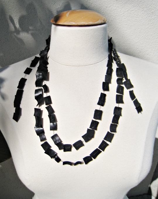 Leather wrap necklace+Leather DIYs
