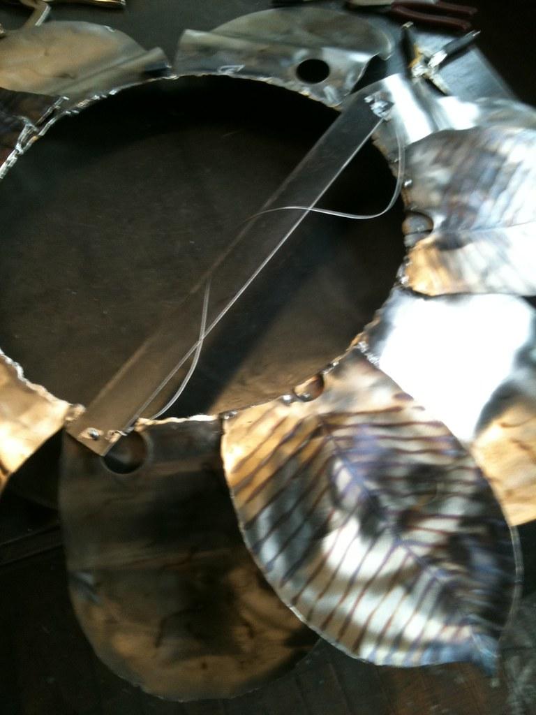 Big Bloomin' Steel Mirror