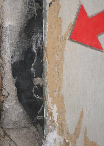 Old Drawing Found on Chalkboard Inside Old School