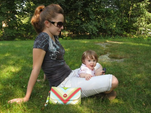 Out and about with the Grab 'n' Go Diaper Clutch