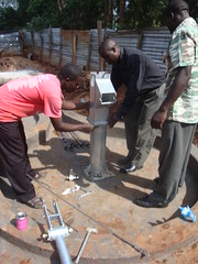 Care compassion home-attachment of water tank during pump attachment.