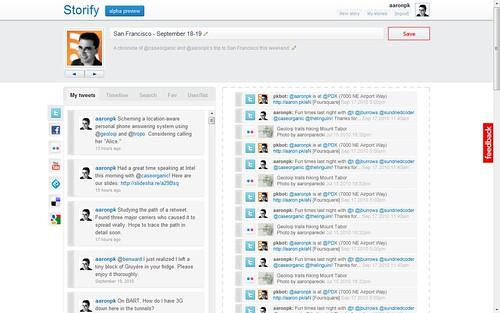 Storify Interface Mockup