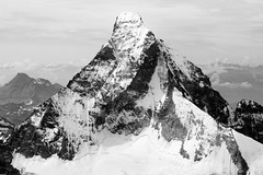 Matterhorn - The North Wall (Huw Hopkins LRPS Photography) Tags: blackandwhite mountain alps landscape photography switzerland swiss peak aerial helicopter photograph zermatt matterhorn monte mont fromtheair huw hopkins valais cervin pyramidal cervino