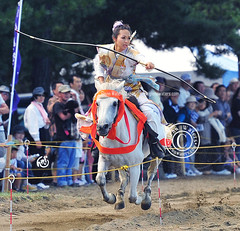 Lift off. (Glenn Waters in Japan.) Tags: horse beautiful japan lady japanese nikon traditional martialarts historic aomori  hirosaki japon horseback yabusame      d700 nikond700  glennwaters  afsnikkor70200mmf28gedvrii