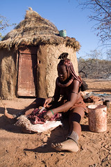 Biltong (roberta camilli) Tags: africa people african culture tribal safari afrika tribe ethnic namibia tribo himba afrique ethnology tribu namibie tribus ethnie