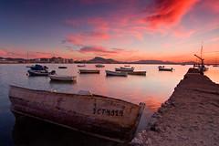 Amarrada (José Andrés Torregrosa) Tags: clouds canon puerto atardecer mar barcos marmenor joseandres nohdr 40d amarrada tokinaf28