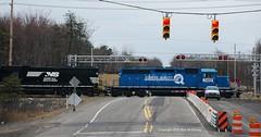 NS @ Hazleton (Bob McGilvray Jr.) Tags: railroad train ns tracks pa hazleton locomotive norfolksouthern conrail exconrail