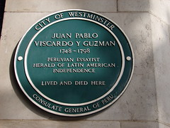 Photo of Juan Pablo Viscardo Y Guzman green plaque